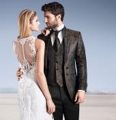klassischer Hochzeitsanzug glänzend