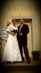 Braut Susann weißes Brautkleid