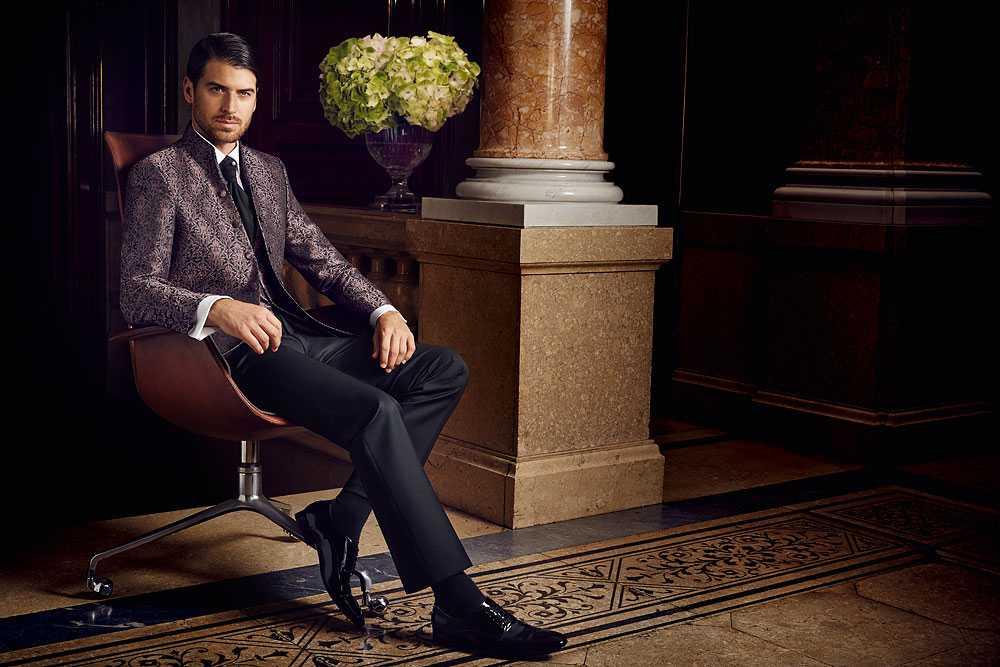 Wilvorst Anzug mit Stehkragen