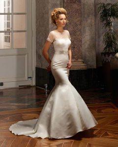 Brautkleid im Meerjungfrauen Styl