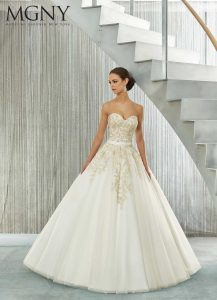 Brautkleid in der A line form
