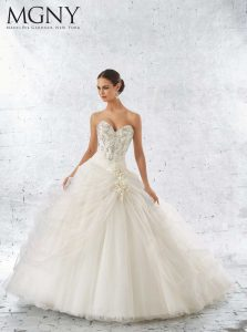 Brautkleid im Duchness Styl