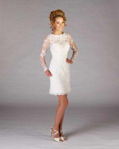 Brautkleid im Etui Styl