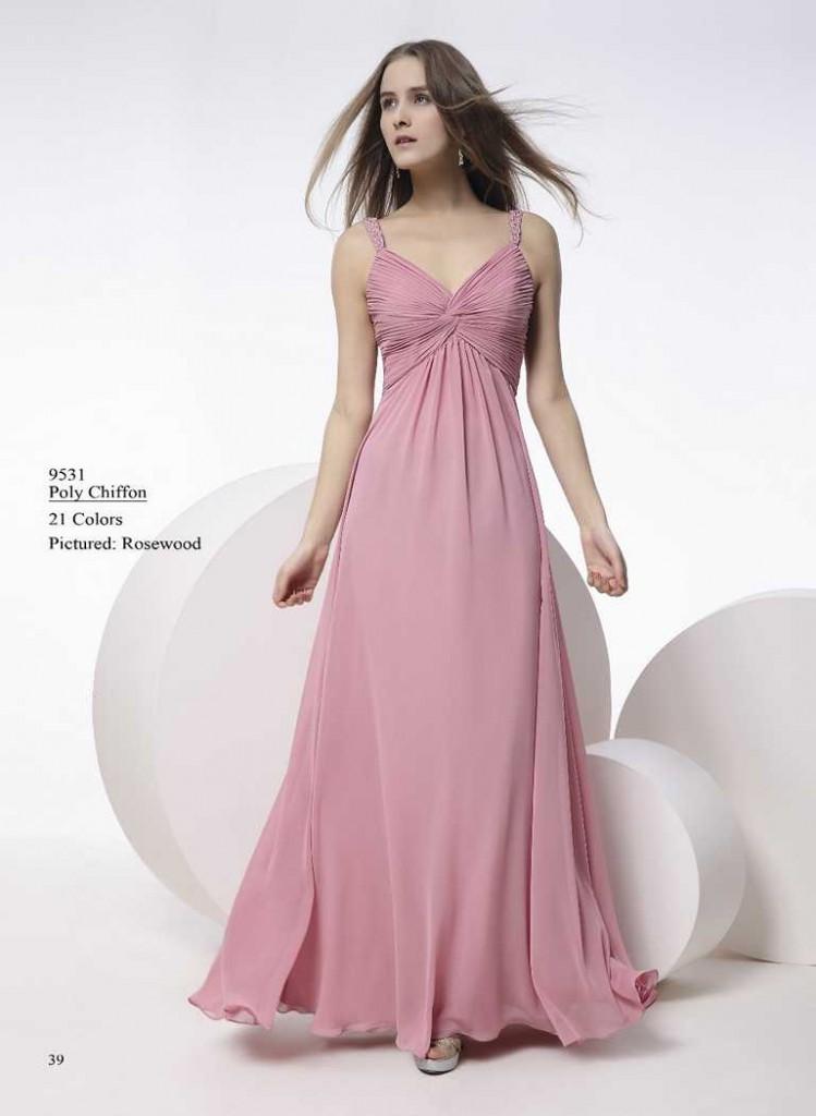 Abendkleid rosa mit trägern