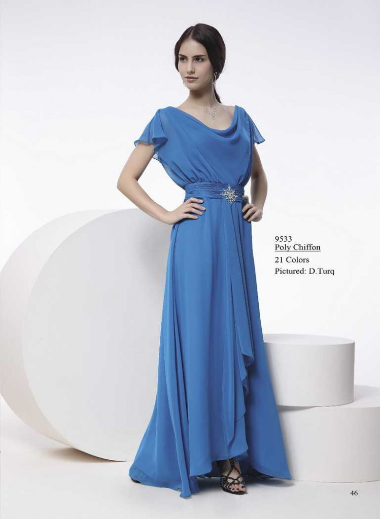 Abendkleid mit breiten trägern blau