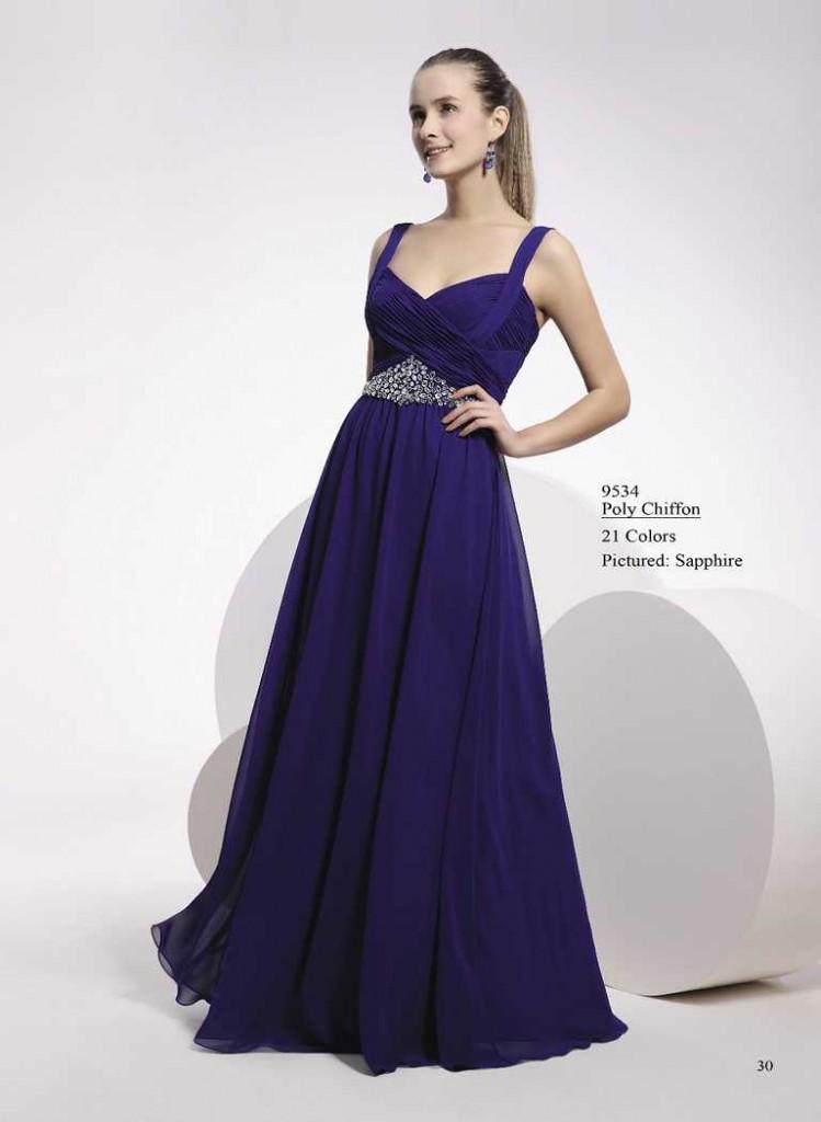 Abendkleid blau mit trägern
