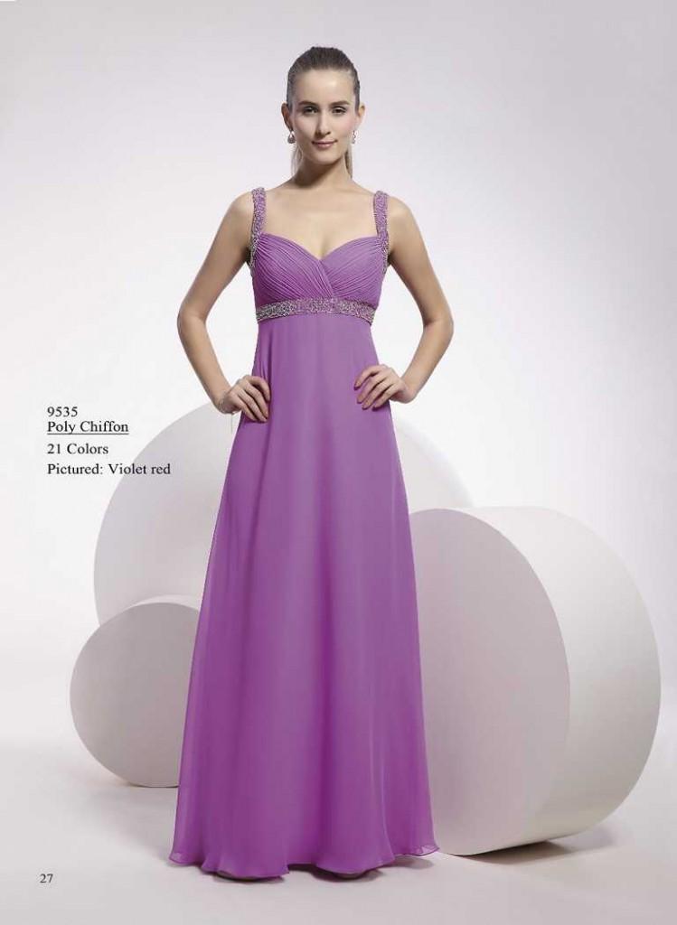 Abendkleid mit trägern lila