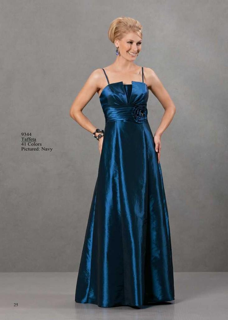 abendkleid träger blau