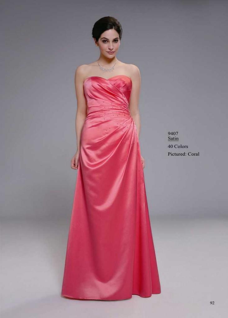 abendkleid rosa ohne träger