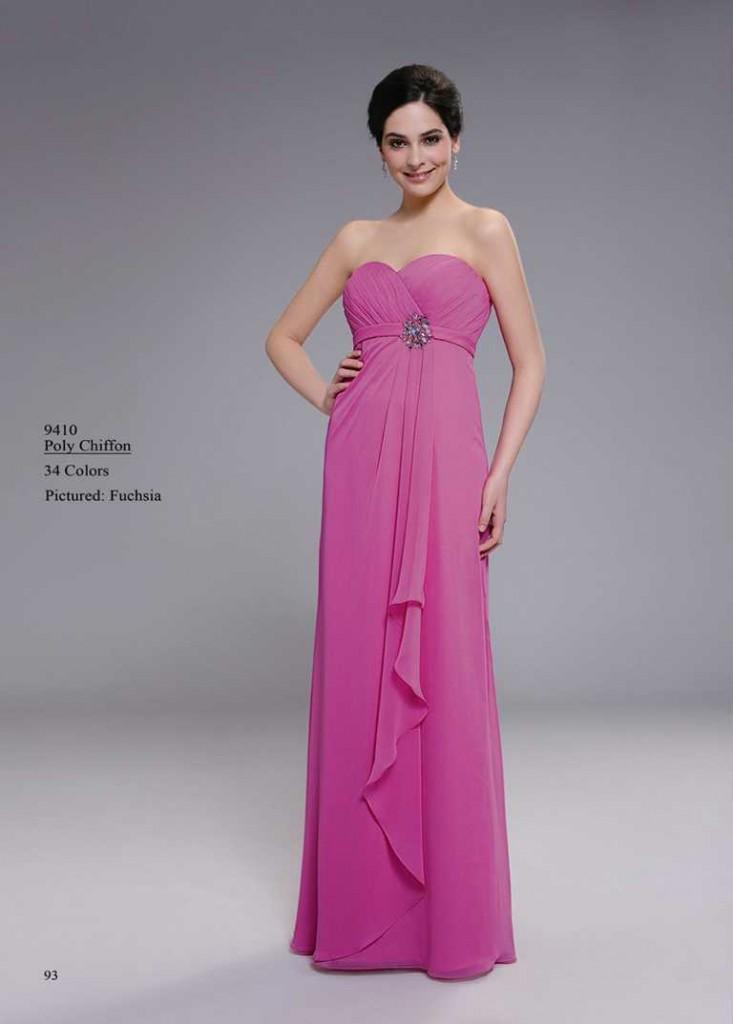 abendkleid ohne träger rosa