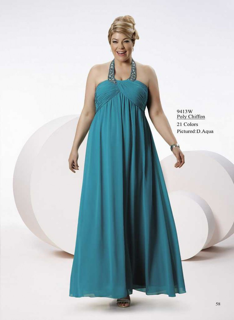 Abendkleid für xxl mollige blau