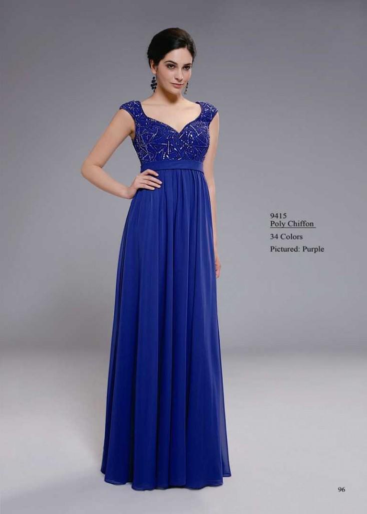 Abendkleid mit trägern blau