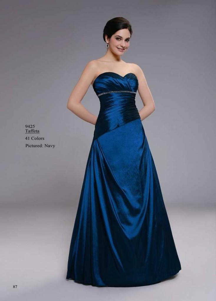 abendkleid blau ohne träger