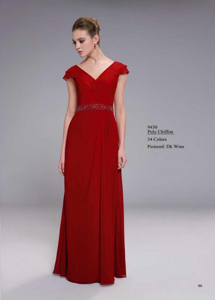 Abendkleid dunkles rot