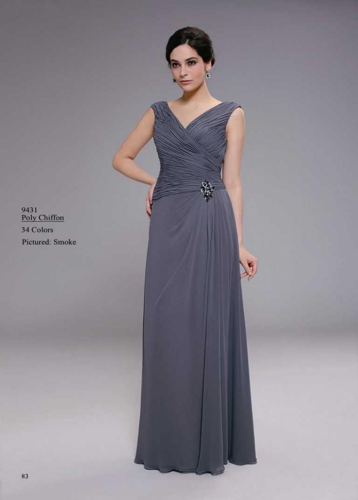 Abendkleid helles grau