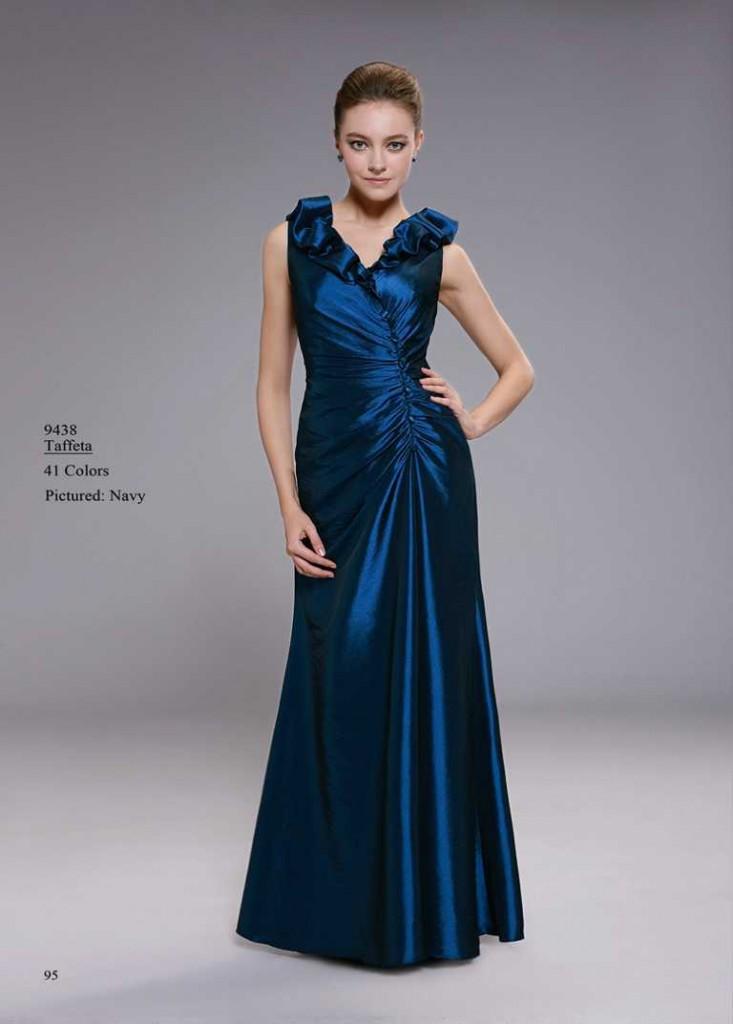 Abendkleid dunkles blau