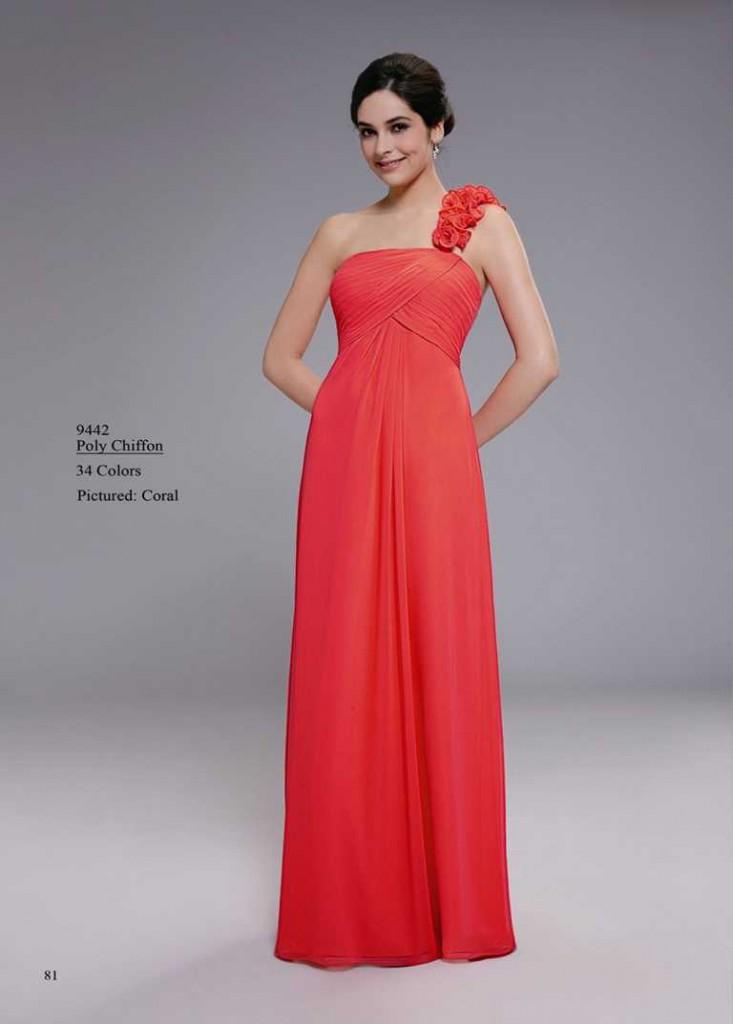 Abendkleid in hellem rot