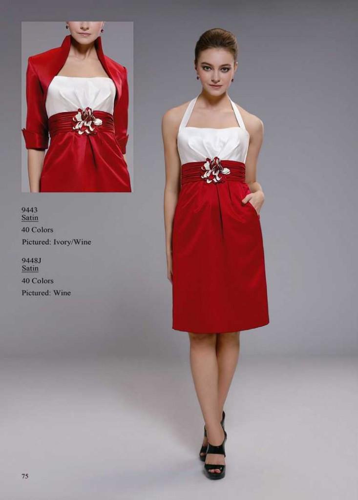 Cocktailkleid rot weiß