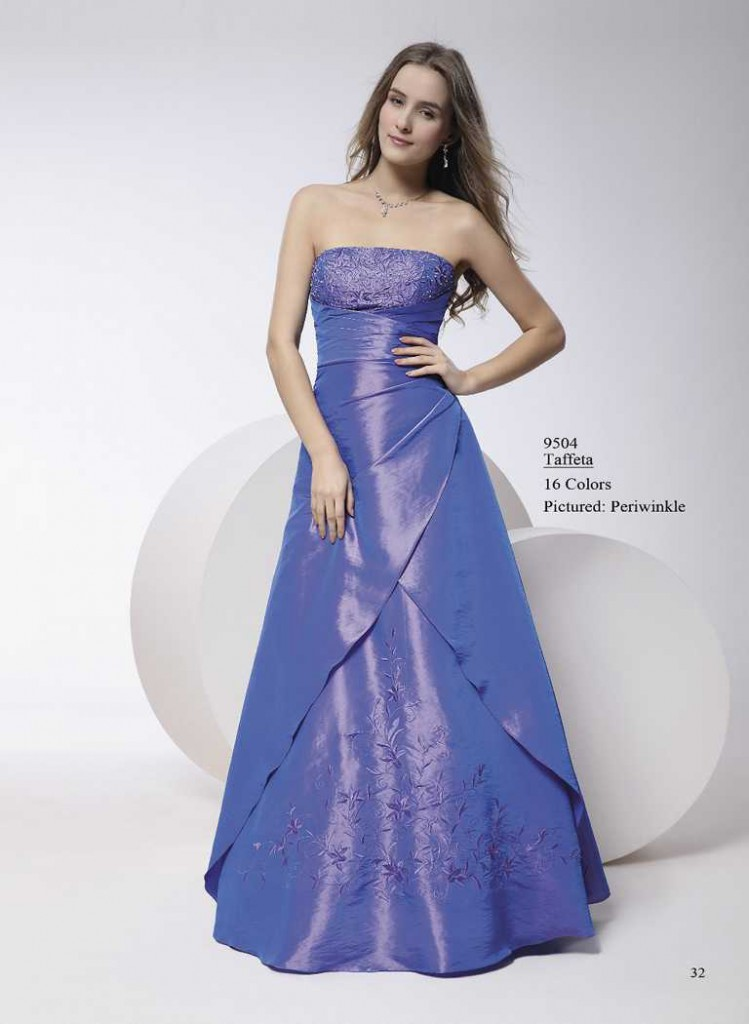 Abendkleid ohne träger blau