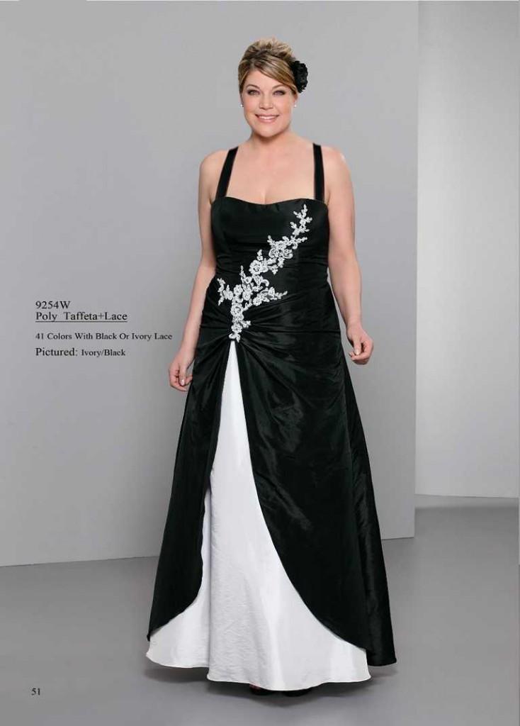 abendkleid schwarz und weiß