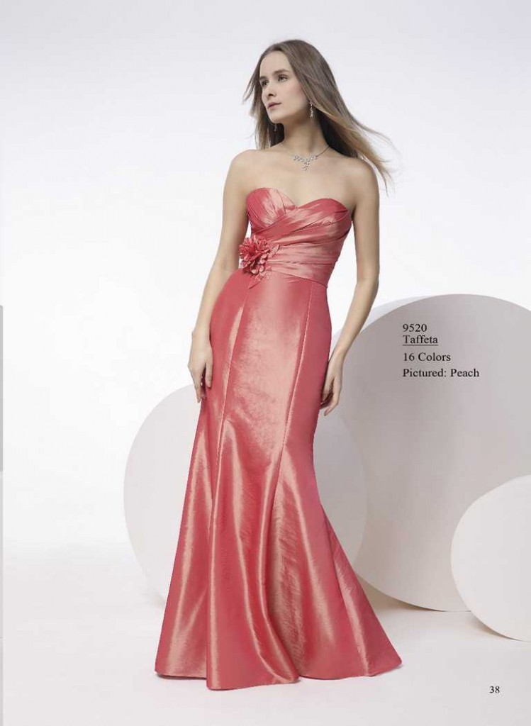 abendkleid in rose
