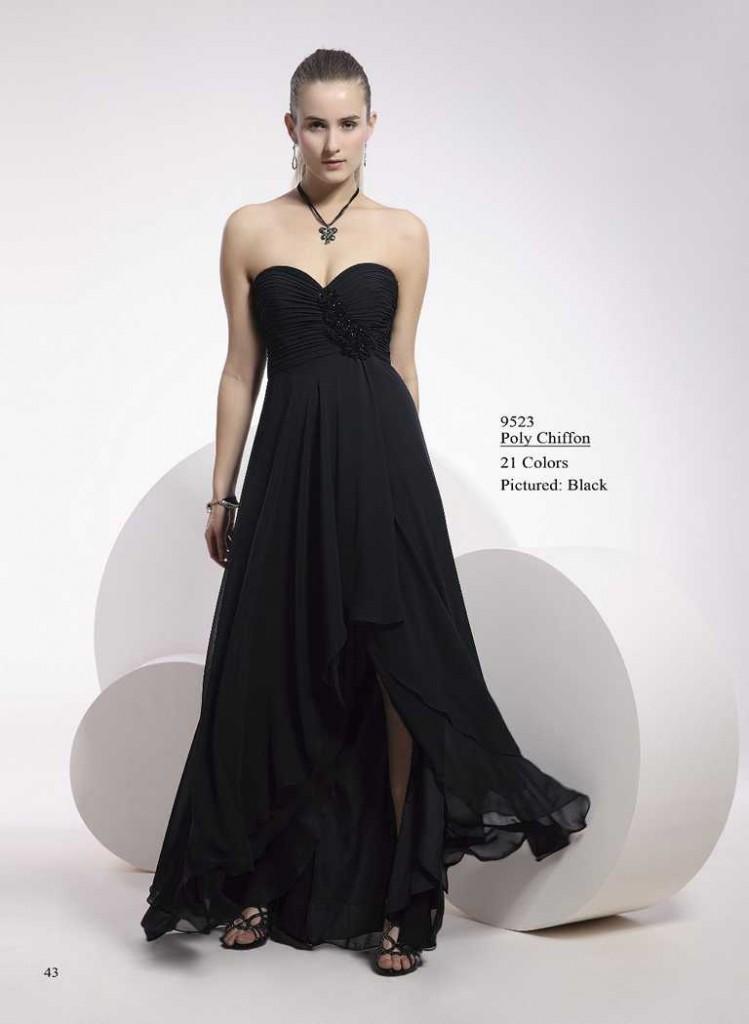 abendkleid schwarz ohne träger
