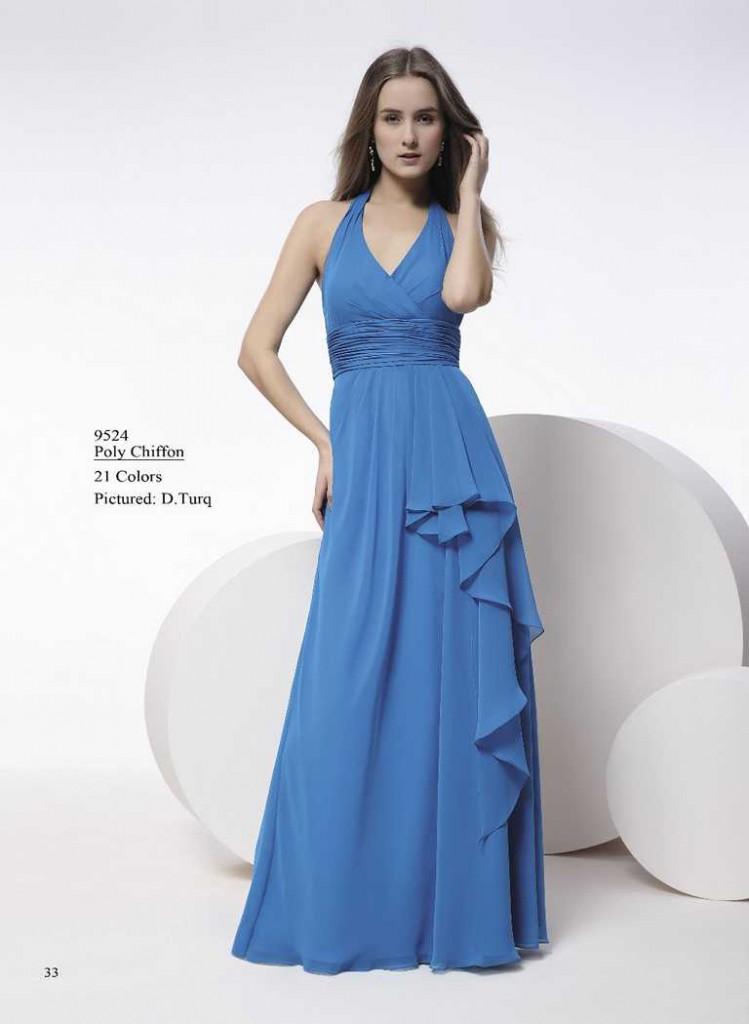 Abendkleid gerafft helles blau