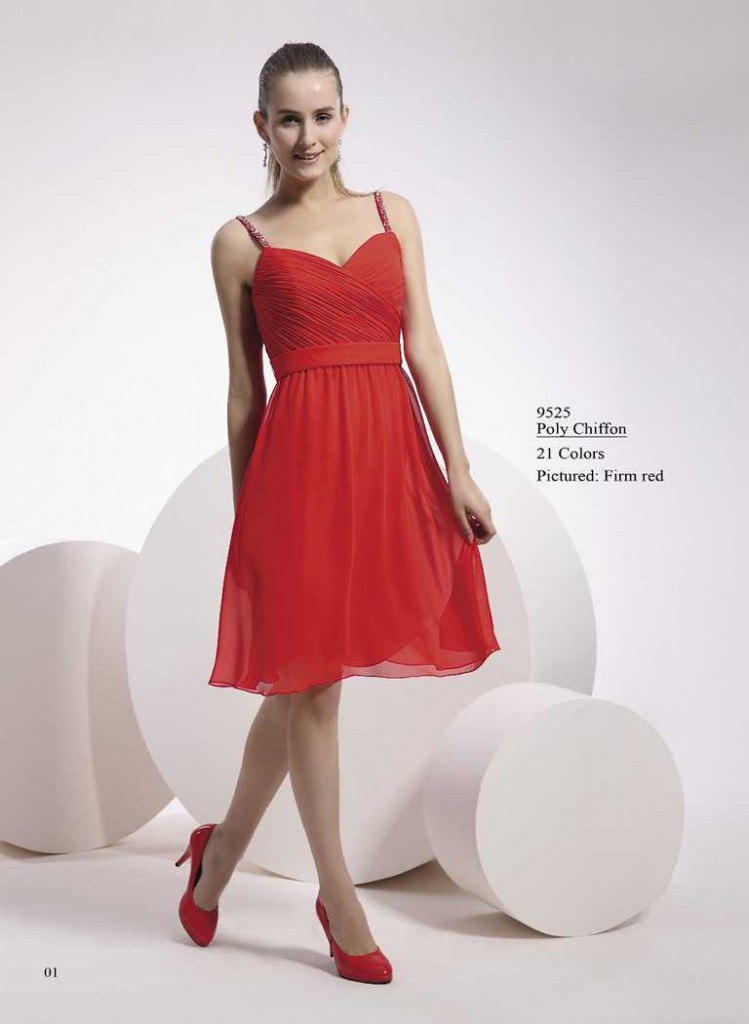 Cocktailkleid in hellen rot