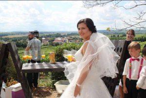 Hochzeit von Anna und Tim beim Sektempfang