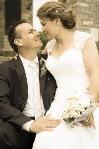 Hochzeit von Nicole schönes schwarz weis Bild
