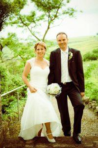 Brautpaar Nicole im Grünem Fotographiert