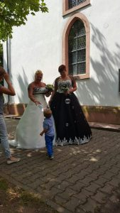 Hochzeits Braut Uta und Julia gemeinsam