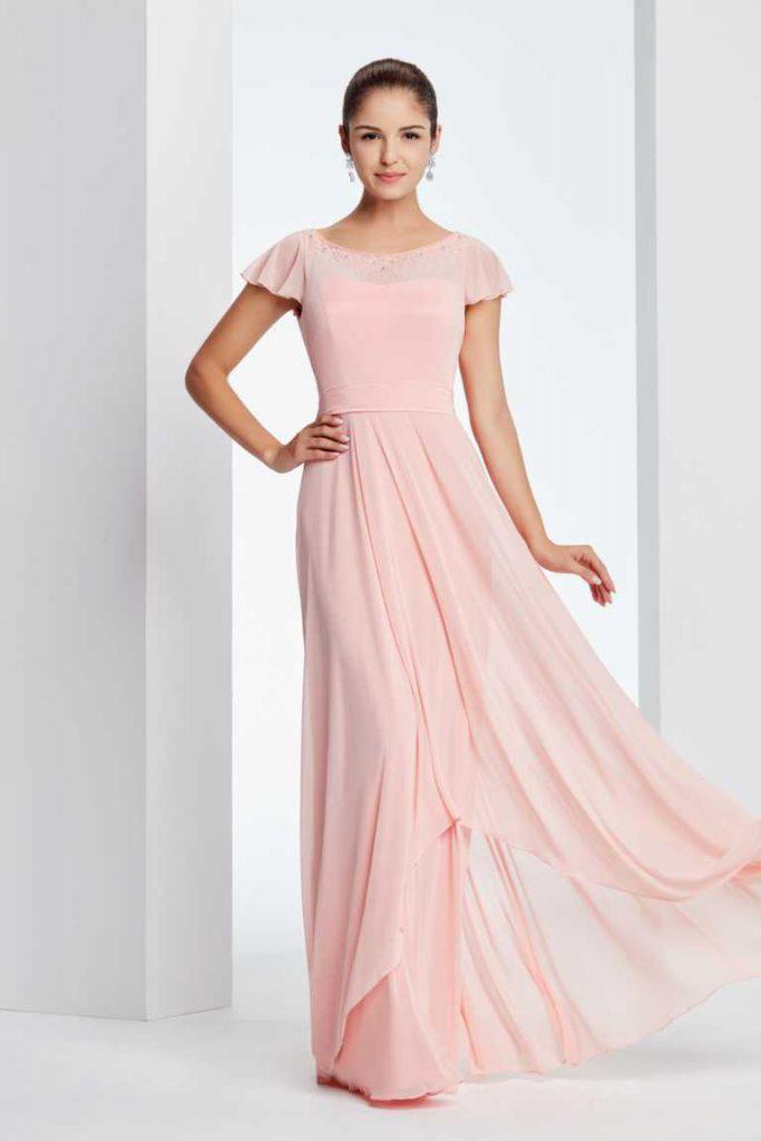 abendkleid-von-amelie in rosa mit taft