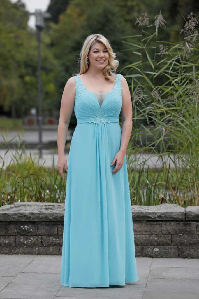 Hellblaue lange kleider