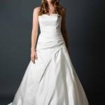 Brautkleid gerafft in satine