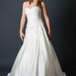 Brautkleid mit Stickereien