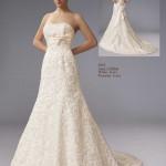 Brautkleid ohne träger mit Stickereien