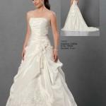 Brautkleid gerafft aus satin
