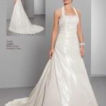 Brautkleid mit neckholder satin