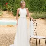 Brautkleid schlicht in weiß