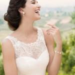 Brautkleid Oberteil mit Stickereien