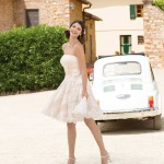 Brautkleid gemustert kurz