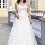 Brautkleid für die xxl braut ohne träger