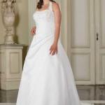 Brautkleid gerafft mit neckholderr