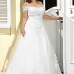 Brautkleid mit halbarm träger