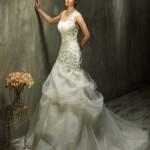 Brautkleid mit gerafften tüll