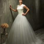 Brautkleid geschlossene träger