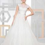 Brautkleid mit breiten trägern
