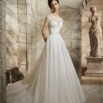 Brautkleid mit geschlossenem oberköperr
