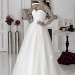 Brautkleid ohne träger weiß